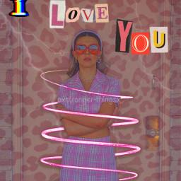 millie mills milliebobbybrown strangerthings iloveyou i love you 2000 2000s 2000saesthetic aesthetic leopard pink thunder fashion style freetoedit