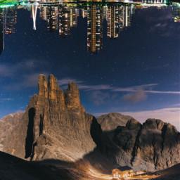 desert mountain mountains house sky remixit city citylights freetoedit