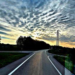 stradafacendo alba cielomagico guardando labellezza pensieritralenuvole freetoedit