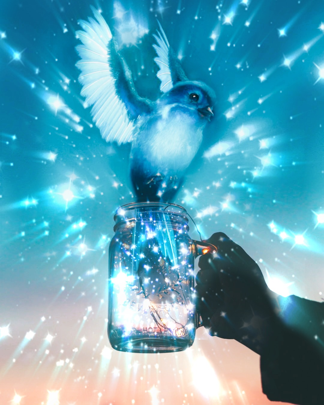 💙TO EVERYTHING I'V EVER LOST: THANK YOU FOR SETTING ME FREE!🕊️#myedit #madewithpicsart #ircmagicfairyjar #magicfairyjar