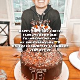 freetoedit char charli charlidamelio cd happybirthday cake love_char_queen
