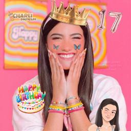 char charli charlidamelio cd birthday love_char_queen freetoedit