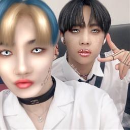 chanhee chanheetbz sunwoo sunwootbz theboyz kpop collab manipulation edit may