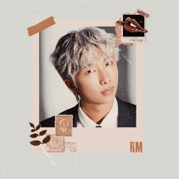 rm bts army freetoedit btsedit edit rapmonster namjoon kimnamjoon vhopeyy vhopeyyedit handsome cute blue photo frame paper effect band background