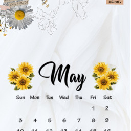 aesthetic flower calender may maycalendar2021 freetoedit