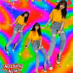 ulzzanggirl rainbow art aesthetic picsart freetoedit