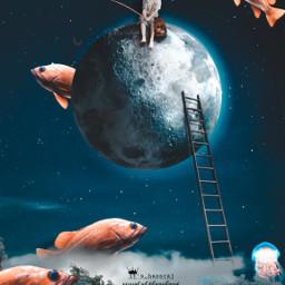 fishing fish sky moon boy surreal visual visualarts visual_creatorz freetoedit