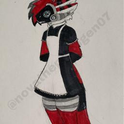 maid maiddress dress protogen spade cute furry furries fursona furryfandom furrie furrys