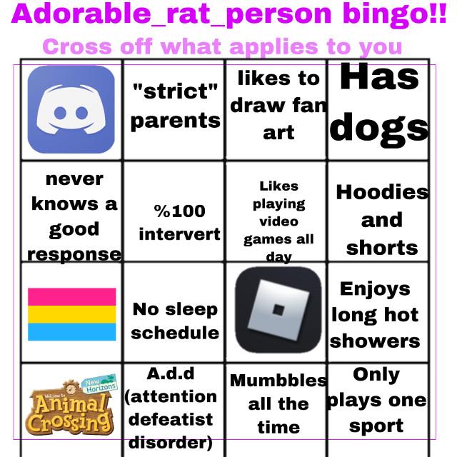 I'm pretty sure thats was add is I had it digagnosed on 4th grade so I forget anyways Tell me of you get bingo!!  𝙷𝚎𝙻𝚕𝙾! 𝚆𝚎𝙻𝚌𝙾𝚖𝙴 𝚃𝚘 𝚝𝙷𝚎 𝚊𝚃𝚃𝚒𝚌!!        𝙷𝙾𝚠 𝙰𝚁𝚎 𝚢𝙾𝚞 𝚝𝚘𝚍𝚊𝚢??       𝙸𝚏 𝚈𝚘𝚄 𝚆𝚒𝚜𝙷✨𝚃𝙾 𝙴𝚗𝚝𝚎𝚛 🔓𝙿𝚕𝙴𝚊𝚜𝙴 𝚆𝙰𝚝𝙲𝚑 𝙵𝙾𝚛 𝙼𝚘𝚞𝚂𝚎 𝚃𝚁𝚊𝚙𝚜        𝙷𝙴𝚁𝚎 𝙸𝚗 𝚝𝙷𝚎 𝙰𝚝𝚃 𝚒𝙺 𝚊𝚕𝚕 𝚃𝙷𝚎 𝚛𝚊𝚝𝚜 𝙿𝚕𝚊𝚈 🐀🐁🐁🐀🐀🐀     𝙻𝚎𝚃𝚜 𝙼𝙴𝙴𝚝 𝚂𝚘𝙼𝚎 𝙰𝚠𝚎𝚂𝚘𝚖𝙴 𝚁𝙰𝚝 𝙵𝚛𝙸𝚎𝚗𝚍𝚂 𝚘𝙵 𝚖𝙸𝙽𝚎         🐀 @-_potato_thing_-    🐀@ash_the_alien        🐀 @xxhelloweenxx                                                    🎺🐀@crayola-bunneh    🤎🧸🦋@mxssbrownie    🐀 @x_lovelyleah_x    🐀 @lqvisa-blossom-fp     🐀 @-__kai__-     🐀@-toasty_dinos-    🐀@starlight4444444444    🐀@zecrazymewncake     🐀 @dinopony452     🐀 @sangwoo-uwu 🐀@_itzz-chicken_nugget      🐀@_itzz-dazai     🐀 @-_funtime-    🐀@alicelongbottom2020   🐀🥡 @ii_hani_ii    🐀 @mariacutie88     🐀@ffion_cat_dog_123552     🐀@officialhinata9    🐀 @denki_kaminari_simp     🐀@kazimaleehah     🐀@galaxygodgacha     🐀@dumbiee    🐀@cupycake2804   🐀@shay_thesavage    🐀@y-h-a-n-a_t-e-m-p-la (always first) 🐀@-_gay-bean_-     🐀@foggygachaqueen    🐀@foxykylestrickland     🐀@s1mp____     🐀@siqmlycupcakeq     🐀@shayladapotato     🐀@rere_creates_gacha    🐀@roki_flower     🐀🌸💖@foggygachaqueen 🌻🌸🦋 @_nostalgically     🐀👩🏻🦰🖕🏻@majestica_wolf_fur     🐀🧸💌 @-loserkawa-bean-      🐀 @-lxttxce_cxt-   🐀 @-_ii_hani_ii_-      🐀 @softpancakesareugly 🐀 @_mikasa-emma_  🐀🌺🧸@its_ash_yk  🐀 @mintcow876  🐀 @lgbtq_blm_love 👁👄👁@iamcookie123     🐀 To join! 🐁 to leave :( 🧀 If you changed your user!!    #gacha #gachalife #gachaclub #oc  #e #EeEe #cool #meh #cute #- #uwu #epic              wow you made it to the bottom!!! Comment ↘️ If your in the taglist and I'll put an emoji of your choice next to your name!