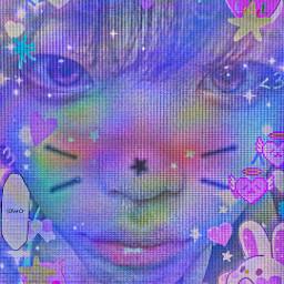 hyeongjun hyeongjuncravity cravity luvity glitchcore cybercore webcore uwu purple freetoedit