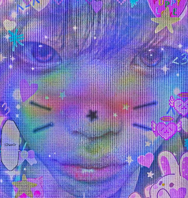 uwu   #hyeongjun #hyeongjuncravity #cravity #luvity #glitchcore #cybercore #webcore #uwu #purple