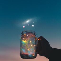 cupofgalaxy galaxy sky hand planet holding freetoedit ircmagicfairyjar