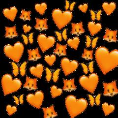 orange emoji butterfly orangebutterfly fox hearts orangeheart sticker background stickerbackground emojibackground freetoedit