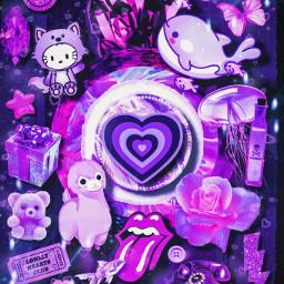purpleaesthetic collage wallpaper freetoedit ccpurpleaesthetic