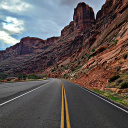 nature road rockformations