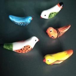 freetoedit ceramic birds handmade
