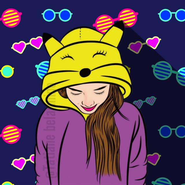 #cute #cuteness #pokédex #girl #hoodie #love #girl #background #photogrid