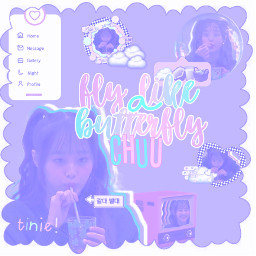 chuu loona purple white simple edit cute pretty cool simpleedit complex shapes