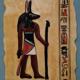 ceramic relief anubis handmade imadethis freetoedit