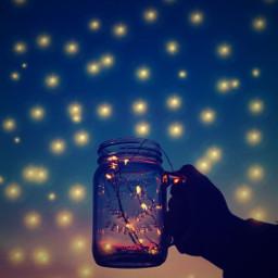 sunset sky magic magiceffect night aesthetic glass golden ircmagicfairyjar magicfairyjar freetoedit