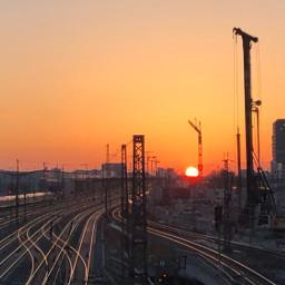 freetoedit nofilter munich citynight traintracks sky sun city donnersbergerbrücke view trainspotting pctheviewiadmire theviewiadmire