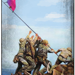 raisingtheflag flag picsartflag picsartlogo iwojima soldiers war makeawesome madeawesome freetoedit irccreateyourownway createyourownway