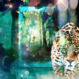 freetoedit myedit myart fantasy fantasyart exotic leopard forest butterfly perroquet superposition imagination surreal ombre prism prismeffect createdbyme makewithpicsart challengepicsart irccreateyourownway createyourownway