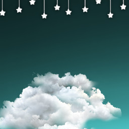 remix cute cloud blend blue cyan white star stars aeathetic cool hanging hangingstar nonpremiumsticker freetoedit