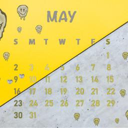 unsplash calendar may maycalendar 2021 maycalendar2021 aesthetic simple twocolors split half grey gray yellow smileyface drip dripping drippingsmile diagonal line srcmaycalendar2021 freetoedit