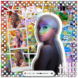 rainbow sweetenr ariana ari arianagrande birthday mothersday complex backround edit play music doiyyourself freetoedit