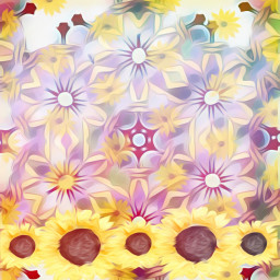 sfghandmade pastels freetoedit flowers sunflowers yellowflowers backgrounds picsarteffects