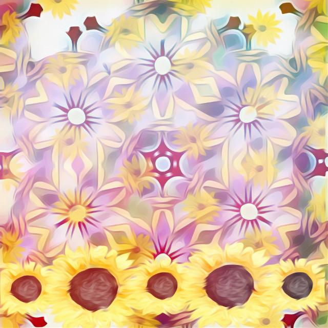 #sfghandmade #pastels #freetoedit #flowers #sunflowers #yellowflowers #backgrounds #picsarteffects