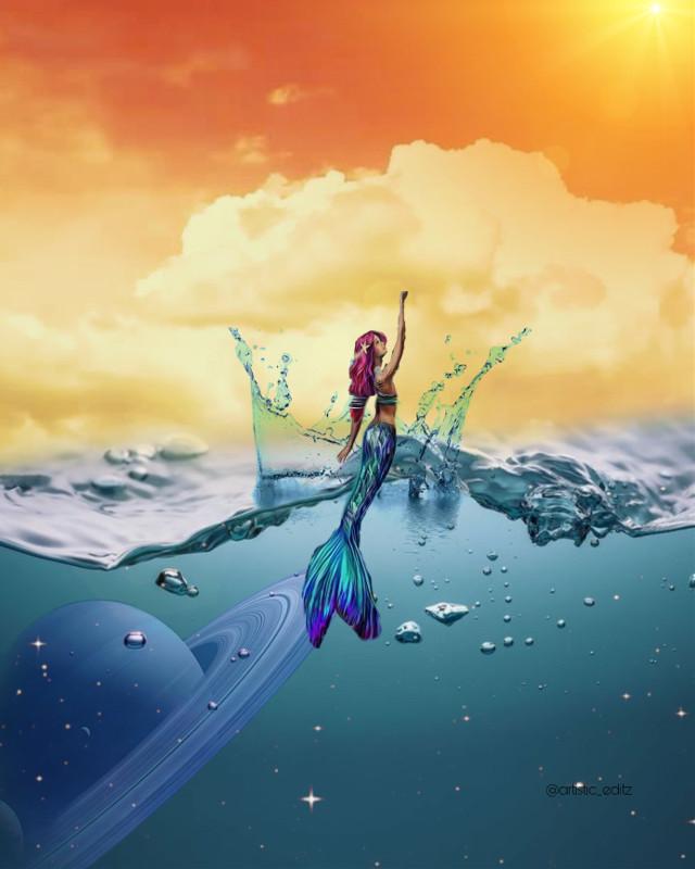 ✨                                                                                                                    #ocean #mermaid #water #clouds #sunset #orange #sky #kindaweird #hi #heypicsart #galaxy #stars #planets #saturn #bright #popcolors #lotsofhashtags #idk #follow4likespam #like