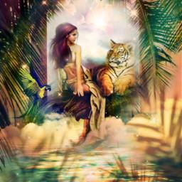 freetoedit myedit myart exotic exoticanimals woman sunnyeffect mer superposition fantasy fantasyart surreal prism prismeffect createdbyme makewithpicsart challengepicsart irccreateyourownway createyourownway