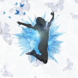 person blue freetoedit