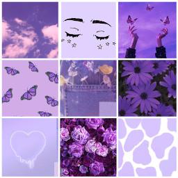 purpleaesthetic purple aesthetic collage purpleclouds stars butterflys sunset hearts beautiful ccpurpleaesthetic freetoedit
