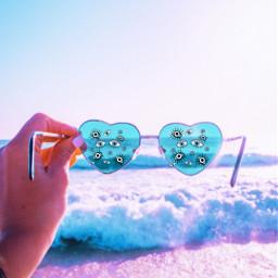 beachvibes sunglasses aestetic summervibes eyes summer srceyesbackground eyesbackground freetoedit