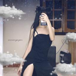 blue clouds ennienguyen freetoedit
