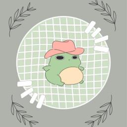 cute green sagegreenaesthetic sagegreen wallpaper background asthetic frog plants freetoedit