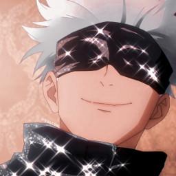 freetoedit anime manga weeb otaku aestheticanime aesthetic pfp icon iconglitter iconanime pfpanime jujutsukaisen gojousatoru satorugojo gojosatoru gojou polarr meitu snowapp