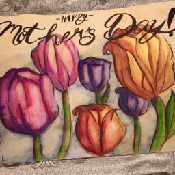mothersday mothersday2021 tulips tulipsflower watercolorflowers watercolor watercolorpainting