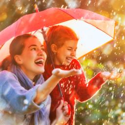 freetoedit great rain shutterstock woman children
