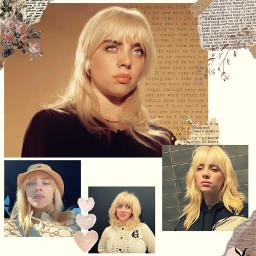 billieeilish blonde blondehair vintage newspaper freetoedit