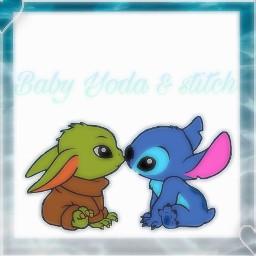 babyyoda stitch bff freetoedit