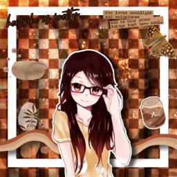 freetoedit brown brownaesthetic brownedit nerdygirl nerdgirl anime animestyle animesticker animegirl manga mangastyle mangasticker mangagirl