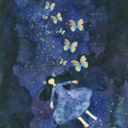desafio challenge argoladeborboleta borboletaneon cartoon pintura girl azuis butterfly dream sonhando sonho dreaming fantasia fantasy freetoedit srcneonbutterflycircle neonbutterflycircle