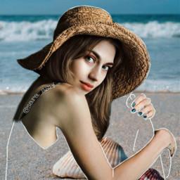 freetoedit picsart myedit myownedit girl grils sea beach seabeach replay4