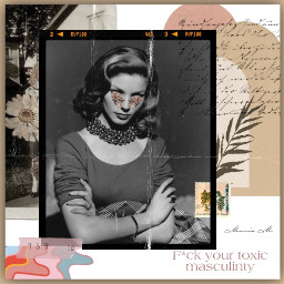 woman womensday women power toxic masculinity collage oldie vintage vintageaesthetic vintagephoto collageframeaesthetic collageart art interesting beautiful girl pwr music flowers freetoedit