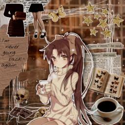 brown brownaesthetic brownedit darkacademia darkacademy darkacademiaaesthetic aestheticedit animegirl anime animestyle freetoedit