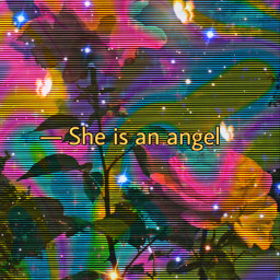 trippy rainbow roses angel edit freetoedit
